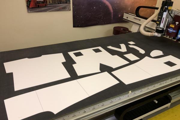 CNC foamex template