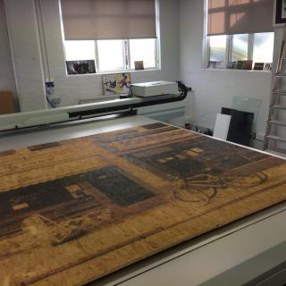 Direct printed OSB board