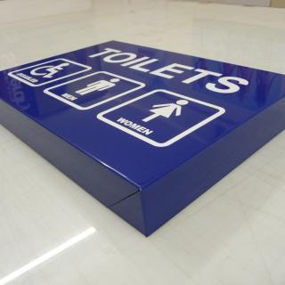 Folded aluminium composite tray