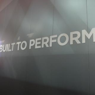 Fret cut foamex lettering, illuminated perspex sign